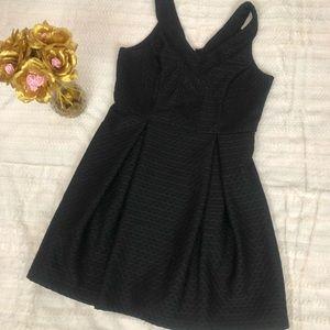 Charlotte Russe Black Pleated Dress L